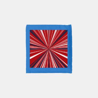 3-D explosion in Patriotic Colors Reusable Bag