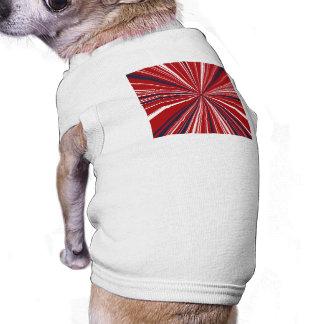 3-D explosion in Patriotic Colors Shirt