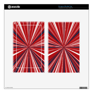 3-D explosion in Patriotic Colors Skins For Kindle Fire