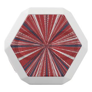 3-D explosion in Patriotic Colors White Bluetooth Speaker