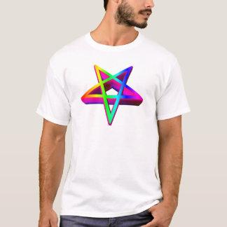 3-D Inverted Rainbow Pentagram T-Shirt