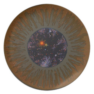 3-D Mind's Brown Eye plate