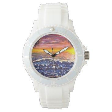 Beach Themed 3-D Ocean Scape Watch