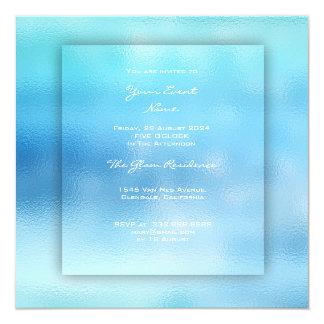 3-D Ocean Sky Sea Beach Blue Minimal Ombre Grass Card