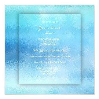 3-D Ombre Ocean Sky Blue Beach OCcean Glass Card