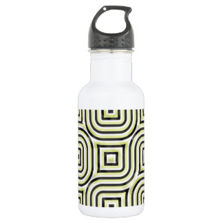 3-D pattern in lime and black 18oz Water Bottle