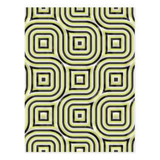 3-D pattern in lime and black Postcard