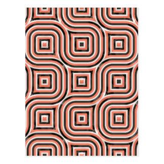 3-D pattern in orange and black Postcard
