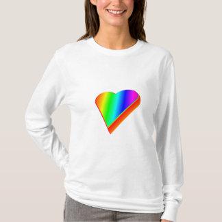 3-D Rainbow Heart #2 T-Shirt