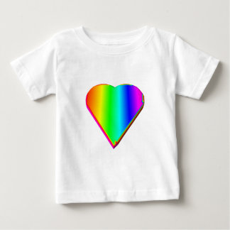 3-D Rainbow Heart #5 Baby T-Shirt