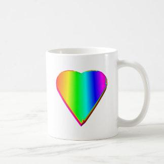 3-D Rainbow Heart #5 Coffee Mug