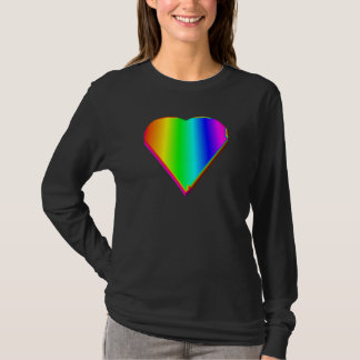 3-D Rainbow Heart #5 T-Shirt