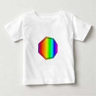 3-D Rainbow Octagon Baby T-Shirt