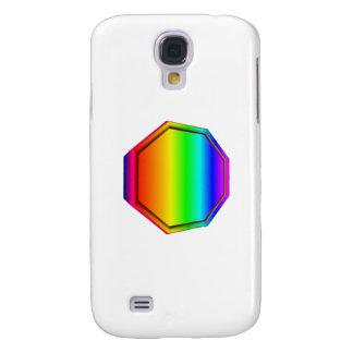 3-D Rainbow Octagon Samsung Galaxy S4 Covers