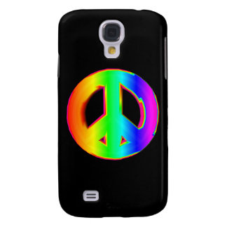 3-D Rainbow Peace Sign 1 Galaxy S4 Covers