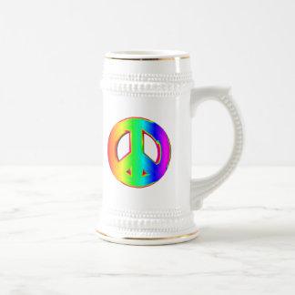 3-D Rainbow Peace Sign #1 Coffee Mugs