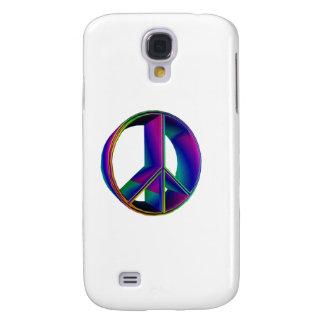 3-D Rainbow Peace Sign 2 Galaxy S4 Cases