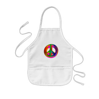 3-D Rainbow Peace Sign #3 Kids' Apron