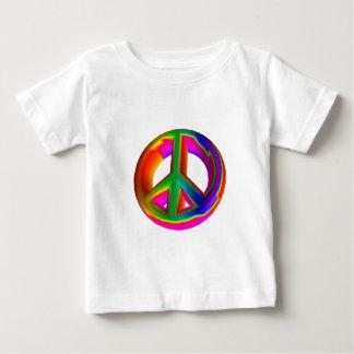 3-D Rainbow Peace Sign #3 Baby T-Shirt