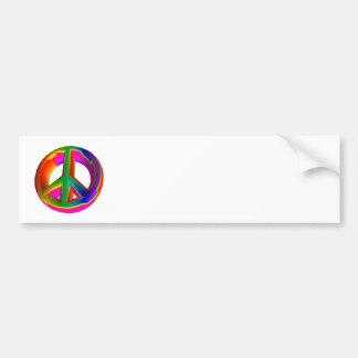 3-D Rainbow Peace Sign #3 Bumper Sticker