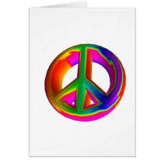 3-D Rainbow Peace Sign #3 Card