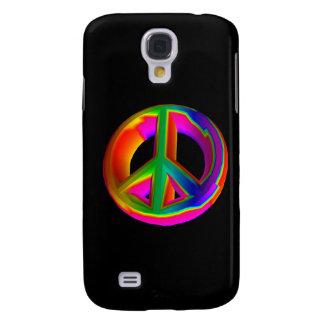 3-D Rainbow Peace Sign 3 Galaxy S4 Covers