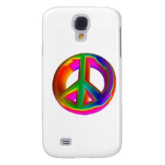 3-D Rainbow Peace Sign #3 Samsung S4 Case