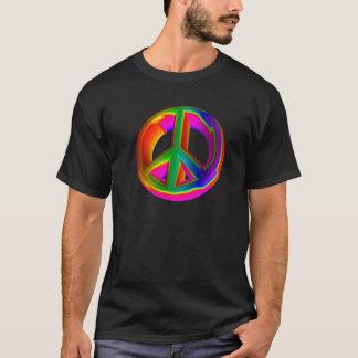 3-D Rainbow Peace Sign #3 T-Shirt