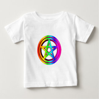 3-D  Rainbow Pentacle #5 Baby T-Shirt
