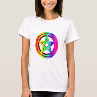 3-D  Rainbow Pentacle #5 T-Shirt