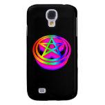 3-D Rainbow Pentacle Galaxy S4 Cases