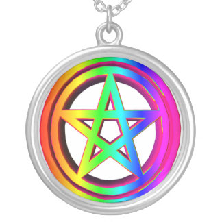 3-D Rainbow Pentacle Jewelry