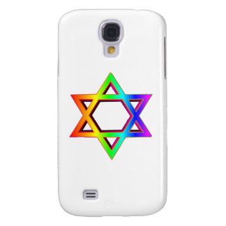 3-D Rainbow Star Of David Galaxy S4 Case