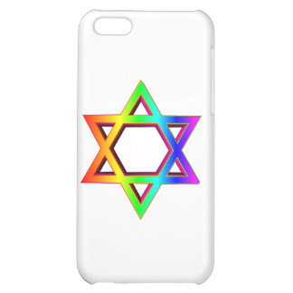3-D Rainbow Star Of David Case For iPhone 5C