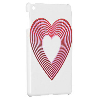 """3-D"" Red and Pink Hearts iPad Mini Cases"