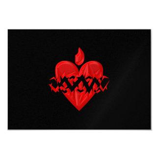 """3-D"" Sacred Heart of Jesus Card"