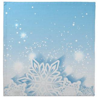 3-D snowflakes Cloth Napkin