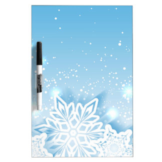 3-D snowflakes Dry-Erase Board