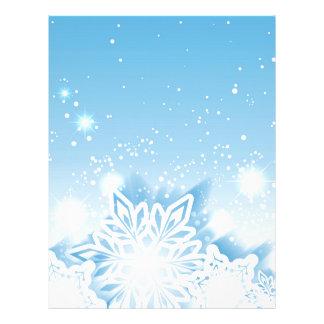 3-D snowflakes Letterhead