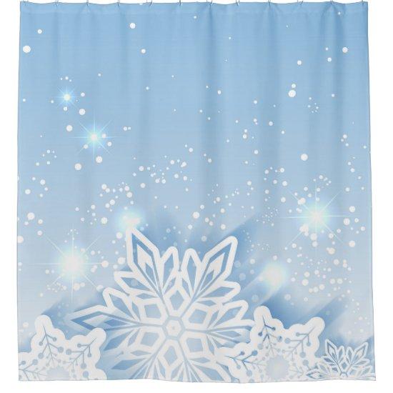 3-D Snowflakes Shower Curtain