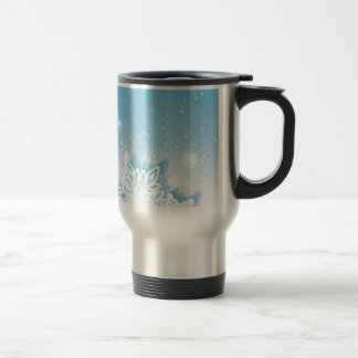 3-D snowflakes Travel Mug