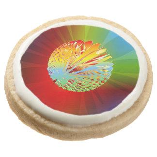 3-d Sphere Round Shortbread Cookie