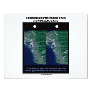3-D Stereoscopic Image Pair Honolulu, Oahu Card