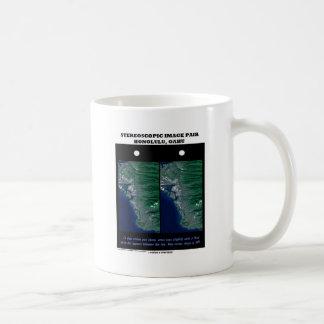 3-D Stereoscopic Image Pair Honolulu, Oahu Coffee Mug