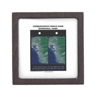 3-D Stereoscopic Image Pair Honolulu, Oahu Premium Jewelry Boxes