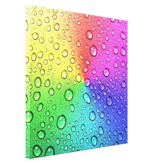 3-D water droplet on chakra multi colors metallic Canvas Print