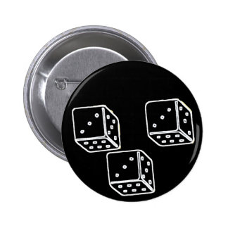 3 DADOS 333 Pinback Pin Redondo 5 Cm