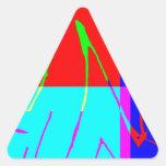 3 dados mordidos pegatinas trianguladas