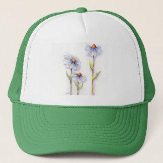 3 DAISIES by SHARON SHARPE Trucker Hat