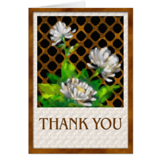 3 daisies-thank you greeting card